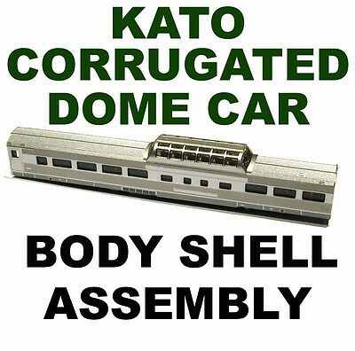 CORRUGATED DOME CAR  SHELL ASSEMBLY with glass  KATO N Scale