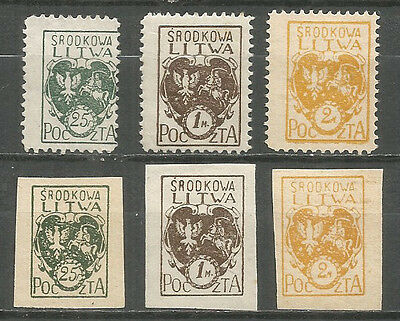 Central Lithuania 1921  mint stamps MH(*)
