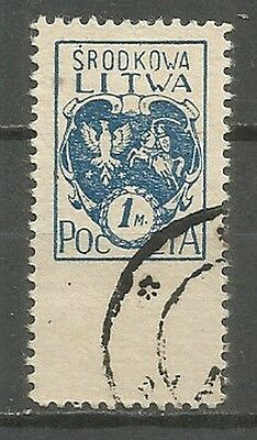 Central Lithuania 1920  used stamp