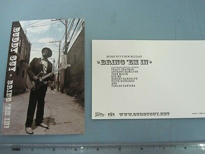 Buddy Guy 2005 rare Bring `em in promotional postcard set NEW old stock