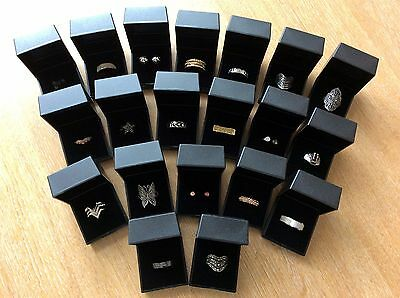 Job Lot Of 20 NEW Items Of Fashion Jewellery Gift Boxed RINGS New 230617-01