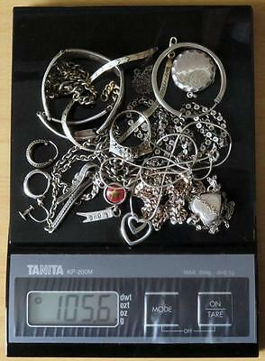 Collection Of Scrap Silver Some Wearable - 96.4 Grams.