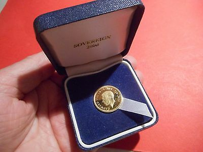 Hallmarked 9ct Gold COPY of EDWARD 8th SOVEREIGN dated 1936 in case