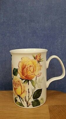 Roy Kirkham English Rose Floral Fine Bone China Mug Made In England
