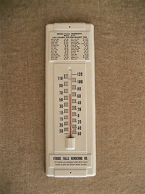 Vintage Fergus Falls Rendering Co Metal Wall Mount Thermometer Minnesota