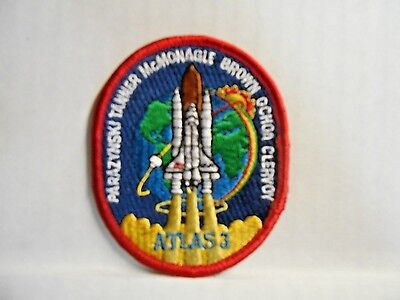 """NASA Mission STS-66 ATLAS 3 Patch Embroidered Space Shuttle Atlantis 3.25"""" NEW"""