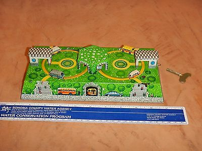 Schylling Collectors Series Russian Car Track Wind Up Tin Litho Toy