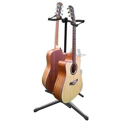 Stand de double guitare pliable support pour guitare repose-pied de guitare