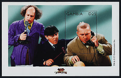 Gambia 2200-2 MNH Three Stooges, Curly on Telephone, Larry with Crown