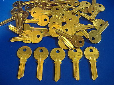 Lot Of Forty Locksmith Y1 5-Pin Key Blanks Fits Yale Solid Brass Made In Usa