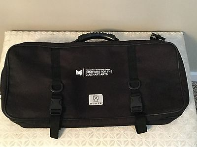 Mercer Knife Case 17 Pocket Culinary Double-Zip Bag Knives Chef Culinary Arts S1