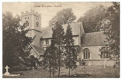 [1587] Buckinghamshire B/W Postcard Great Hampden Church