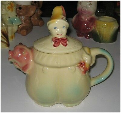 Shawnee Pottery Nursery Rhyme Teapot Tom Tom The Piper's Son Post 1940's