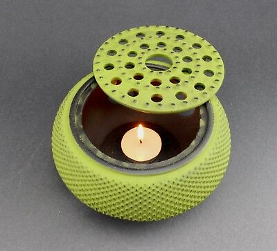 Green Hobnail Small Dot Japanese Cast Iron Tetsubin Teapot Warmer ~ US Seller