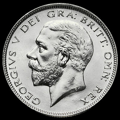 1928 George V Silver Half Crown, BU