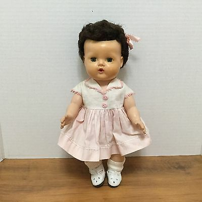 American Character Tiny Tears 13 Inch Dark Hair Ex