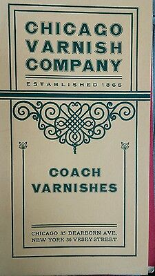 1900s Carriage Varnish Catalog, Chicago Varnish, Chicago, NY, Los Angeles  12pg