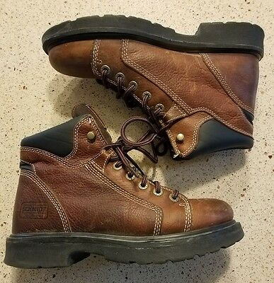 701d6852645 C.E. SCHMIDT BROWN Leather Work BOOTS Fit for Her Womens 6 M Lace up
