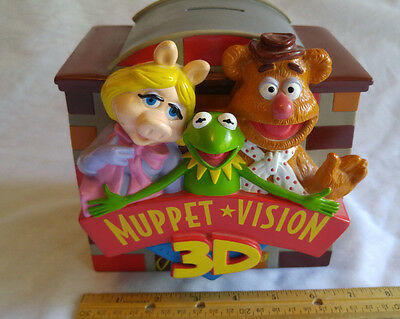 """Muppet Vision 3D Coin Bank - 6"""" Tall x 6-1/2"""" wide - Hard Rubber - Clean!"""