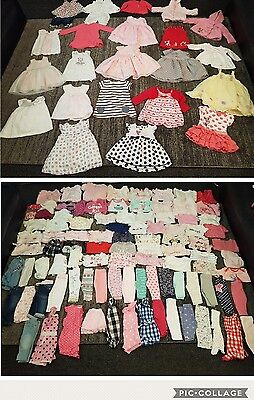 baby girls 3-6 months clothes bundle 120 items