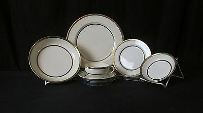1918 Noritake N1711 Morimura Handpainted Greek Key China with Serving, 86 Pieces