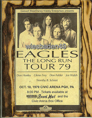 The Eagles concert poster print A4 size