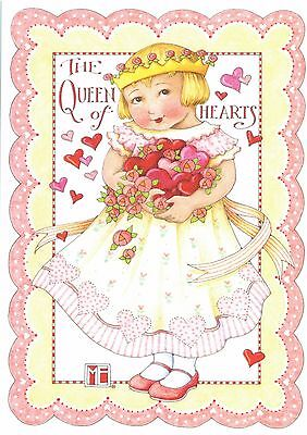 Mary Engelbreit-THE QUEEN OF HEARTS-Valentine Pink Cottage Roses Card-NEW!