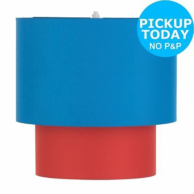 Chad Valley 2 Tier Light Shade - Red and Blue
