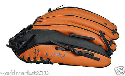 Sporting Goods PU Material 12.75 Inches Wear-Resisting Baseball Glove Brown&$