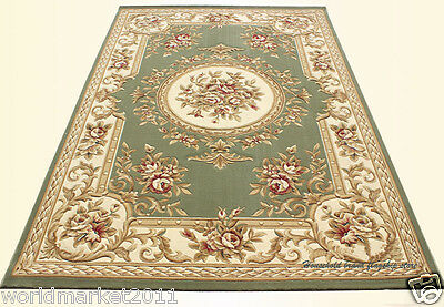 A21 European Style Pure Wool Length 170CM Manual Weaving Carved Flowers Carpet