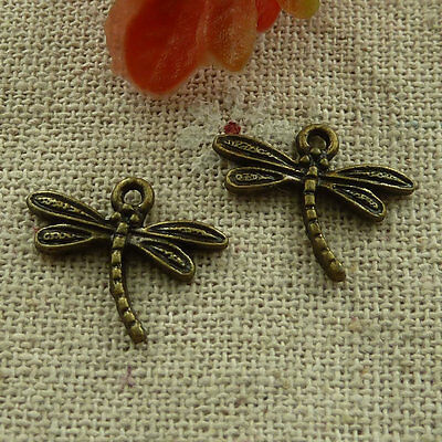 free ship 560 pcs Antique bronze dragonfly charms 18x14mm #2845