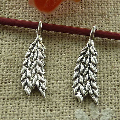 free ship 800 pieces tibetan silver ear of wheat charms 19x6mm #2861