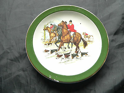Woods, China Wall Plate, Horse & Hound Design, NHS Englad 1974