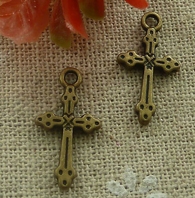 free ship 200 pieces Antique bronze cross charms 21x11mm #2110
