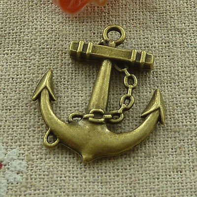 free ship 72 pcs Antique bronze anchor charms 31x27mm #2902