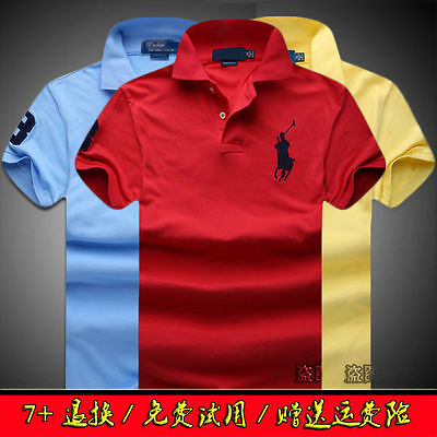 New Hot POLO Men's Casual Shirt Short Sleeve Shirts T-shirts size S-6XL 11Colour