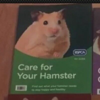 New Practical guide of expert RSPCA advice of how to choose & Care For HAMSTERS