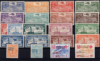 P26981/ Dominican Repub. / Airmail / Lot 1928 - 1933 Neufs * / Mint Mh 114 €