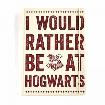 Harry Potter I'd Rather Be At Hogwart's Premium A5 Notebook Bnip Herminone Ron