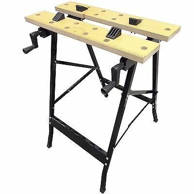 Work Bench Mate Portable Folding Workbench Workmate Saw Jaw Vice Trestle Clamp