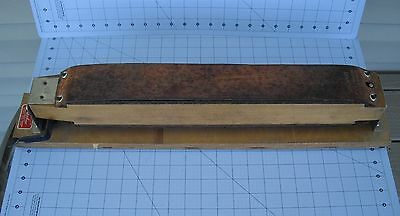 Straight Razor Strop Lipshaw Mfg Rotating Wooden Block 2 Sides Barber Shop Nice