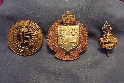 Two Post WW II New Zealand Cap Badges And One Collar Badge