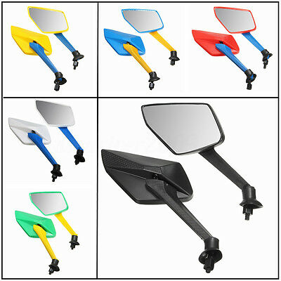 Pair Universal Motorcycle Motorbike Rear View Rearview Side Mirror 8mm Thread