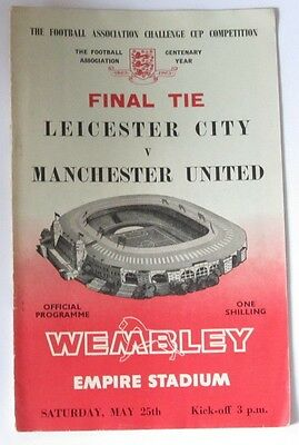 1963 FA Cup Final at Wembley. Leicester City v Manchester United.