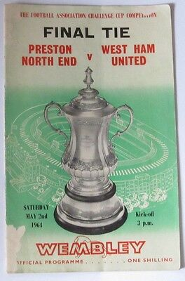 1964 FA Cup Final at Wembley. Preston NE v West Ham United.