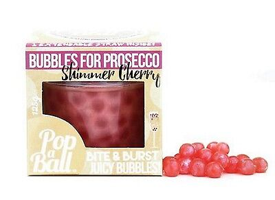 Popaball Bursting Bubbles Shimmer Cherry Flavour Prosecco Cocktail Drink Extras