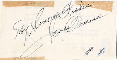 Jessie Owens Legendary Usa Olympic Athlete Rare Signed Album Page + Photo  Coa