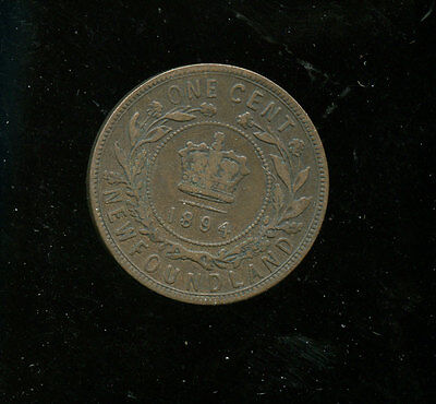 1894 Newfoundland Large Cent VG+ A953