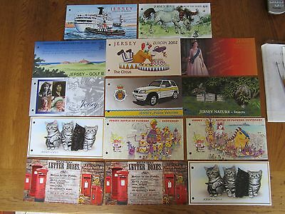 Jersey, mint stamps 2002, 14 sets & mini sheets, presentation packs