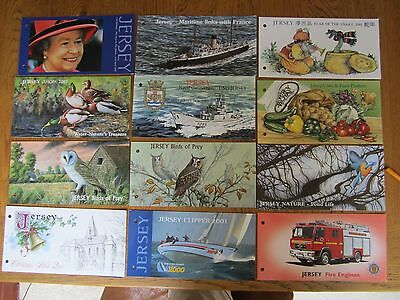 Jersey, mint stamps 2001, 12 sets & mini sheets, presentation packs